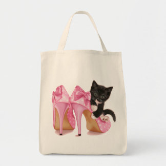 Kitten in Stilettos Tote Bag