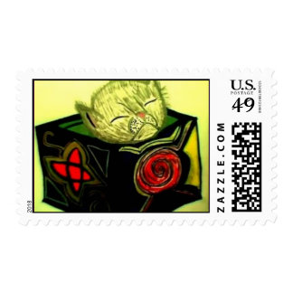 Kitten in the Box Stamp