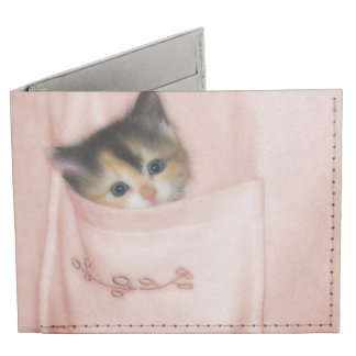 Kitten in the Pocket 2 Billfold Wallet