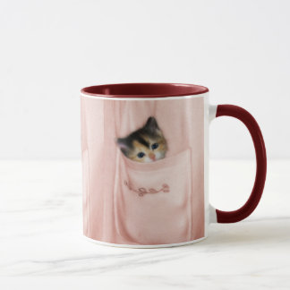 Kitten in the Pocket 2 Mug