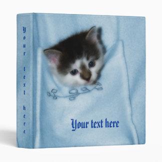 Kitten in the Pocket 3 Ring Binder