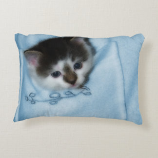 Kitten in the Pocket Accent Pillow