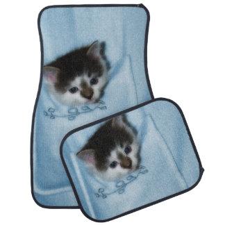 Kitten in the Pocket Car Mat