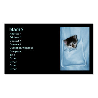 Kitten in the Pocket Double-Sided Standard Business Cards (Pack Of 100)