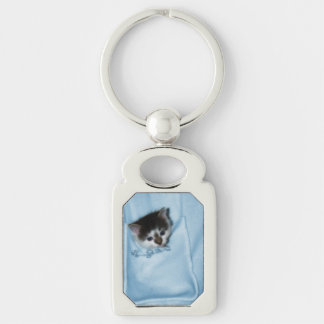 Kitten in the Pocket Keychain