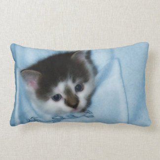 Kitten in the Pocket Lumbar Pillow