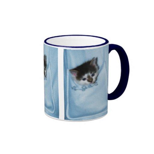 Kitten in the Pocket Mugs