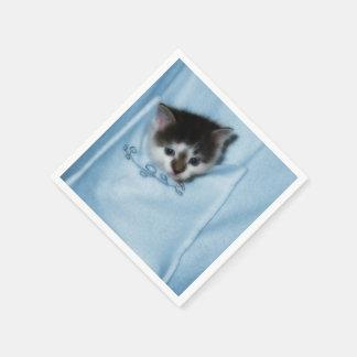 Kitten in the Pocket Paper Napkin