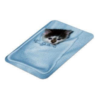Kitten in the Pocket Rectangular Photo Magnet
