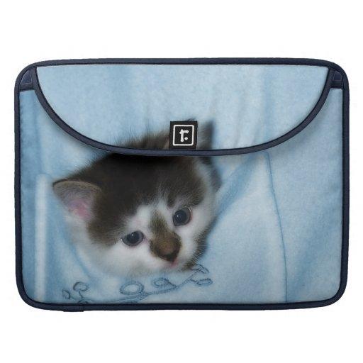 Kitten in the Pocket Sleeve For MacBook Pro