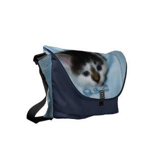 Kitten in the Pocket Small Messenger Bag