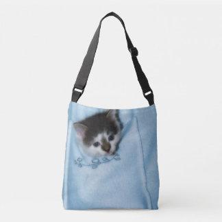 Kitten in the Pocket Tote Bag