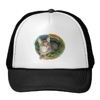Kitten in Yarn Trucker Hat
