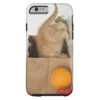 Kitten inside grocery bag tough iPhone 6 case