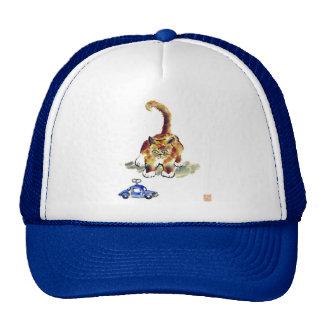 "Kitten is Deciding To Pounce or Not To""calico kitt Trucker Hat"