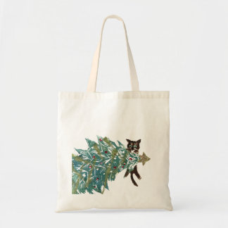 Kitten is Hanging Around the tree Tote Bag