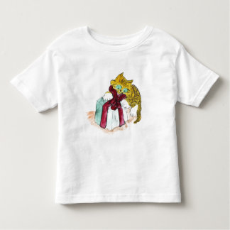 Kitten is Unwrapping a Merry Catmous Toddler T-shirt