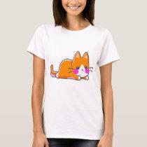 Kitten Kawaii Orange T-Shirt