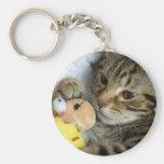 kitten keychain