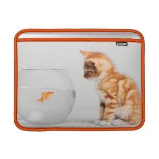 Kitten Looking At Fish In Bowl MacBook Sleeve