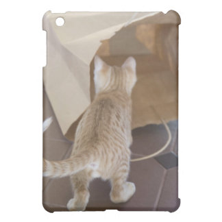 Kitten Looking into the Abyss of a Bag iPad Mini Case