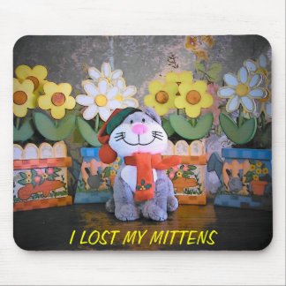 Kitten lost mittens mouse pad