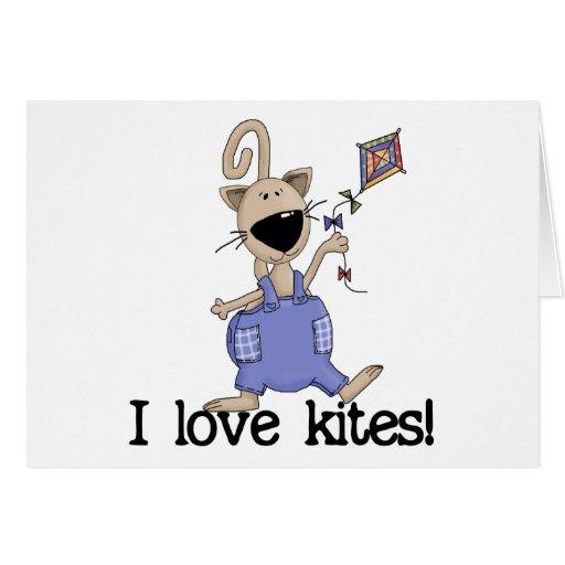Kitten Love Kites Greeting Card