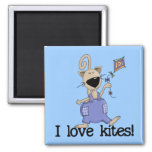 Kitten Love Kites Tshirts and Gifts Fridge Magnets