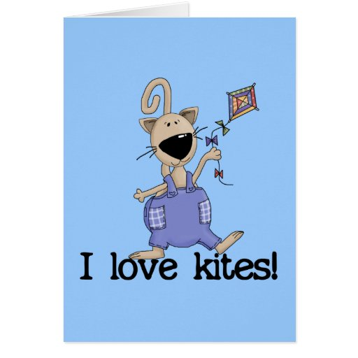 Kitten Love Kites Tshirts and Gifts Greeting Cards