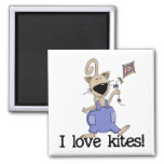 Kitten Love Kites Tshirts and Gifts Refrigerator Magnet