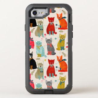 Kitten Mitten Cat Ugly Sweater / Andrea Lauren OtterBox Defender iPhone 7 Case