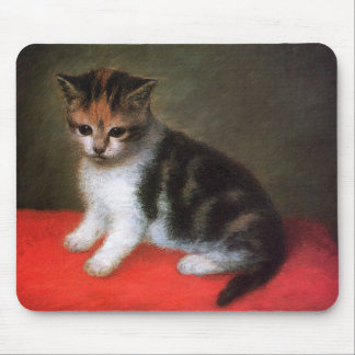 Kitten Mousepad: Vintage Cat Painting by Stubbs Mouse Pad