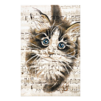 Kitten Music Stationery