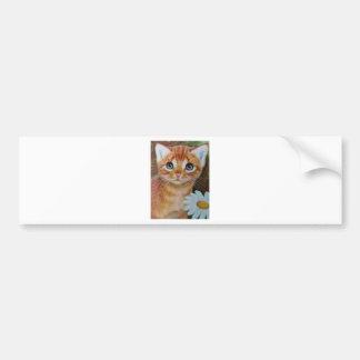 Kitten n flowers II Bumper Sticker