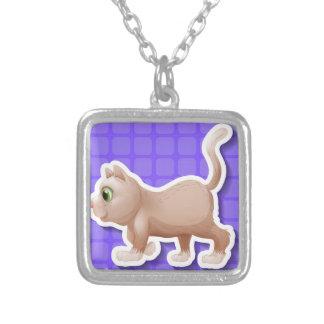 Kitten Square Pendant Necklace