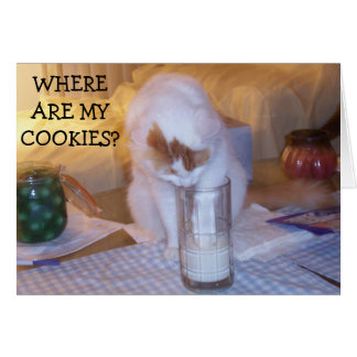 KITTEN NEEDS COOKIES/TO WISH U HAPPY BIRTHDAY CARD