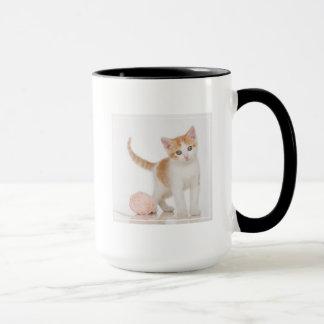 Kitten Next To Ball Of String Mug