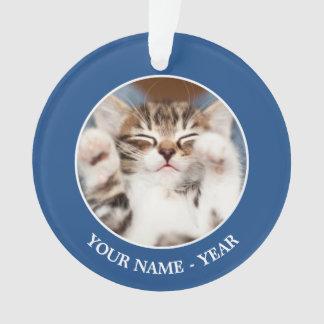 Kitten on lap. ornament