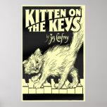 Kitten on the Keys Huge Poster