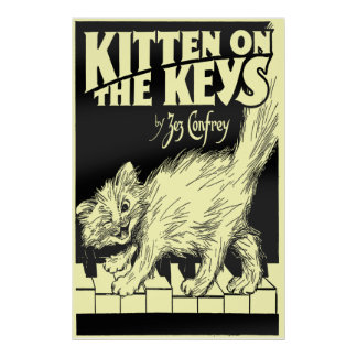 Kitten on the Keys Huge Poster