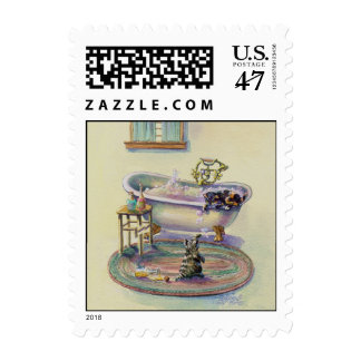 KITTEN on the TUB by SHARON SHARPE Postage