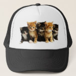 "Kitten Outfits Trucker Hat<br><div class=""desc"">Hats,  shirts,  baby clothes,  with cute adorable kittens.</div>"