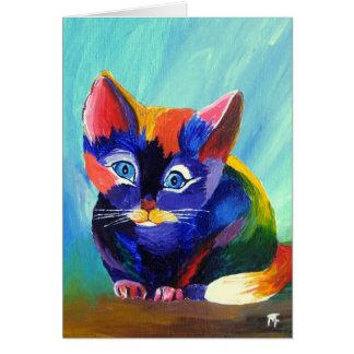 Kitten Painting Greeting Card