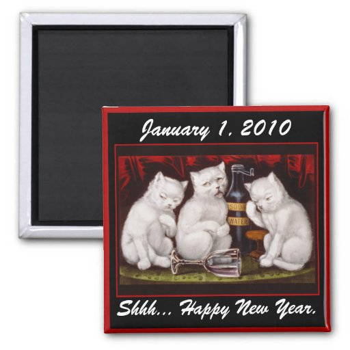 Kitten Party! New Year's Day - Magnet #1
