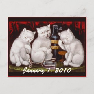 Kitten Party! New Year's Day - Postcard postcard