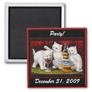 Kitten Party! New Year's Eve - Magnet #1 magnet