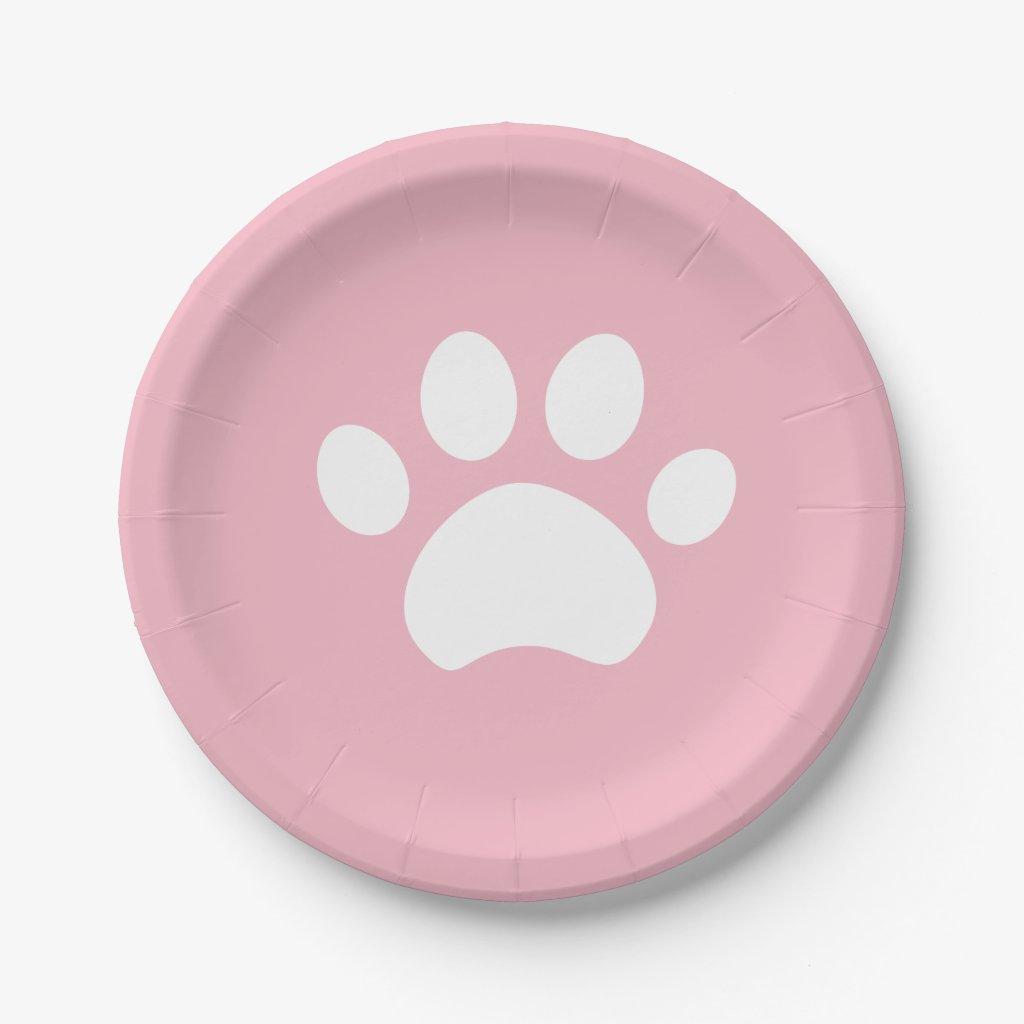 Kitten Paw Print 4 a Purrfect Day Paper Plate  sc 1 st  Mundoinho & Decor \u0026 Supplies 4 Kids Parties: Cat Paw Print Paper Plates in ...