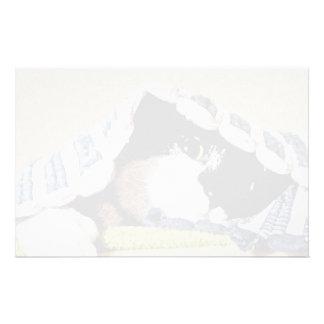 Kitten Peeking Under Blanket Personalized Stationery