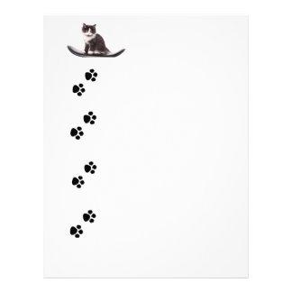 kitten personalized letterhead