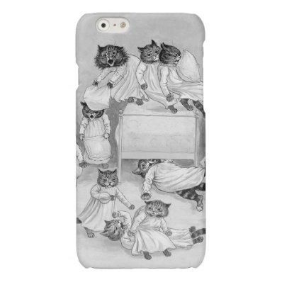 Kitten Pillow Fight! Louis Wain iphone6 Case